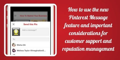 Pinterest Marketing Tips - How to use the Pinterest Message Feature