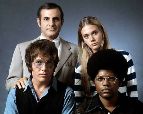 Sixties   Tige Andrews, Peggy Lipton, Michael Cole and Clarence Williams III, stars of The Mod Squad