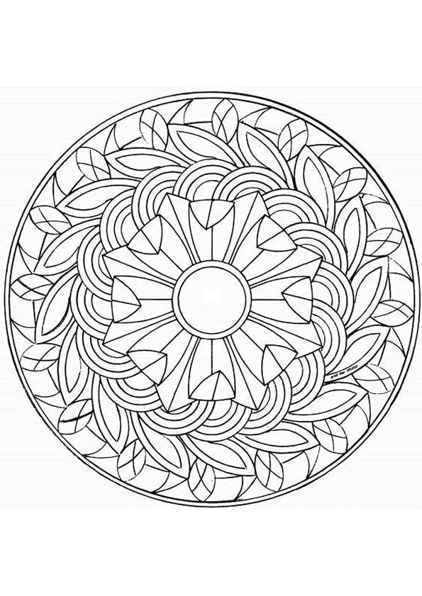 742 best mandala images on Pinterest Coloring books, Coloring - best of mini mandala coloring pages