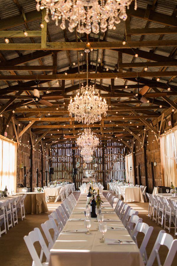 barn wedding reception - photo by Elena Wolfe http://ruffledblog.com/charming-rustic-upstate-farm-wedding