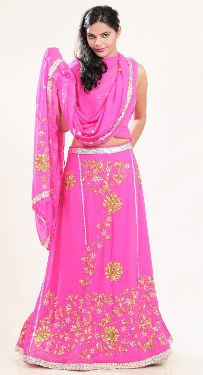 Gleaming Pink #Lehenga #Choli and #Navratri #Garba #Dress.