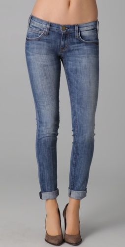 CURRENT/ELLIOTT The Rolled Skinny Jeans $238 #fashion #outfit #clothes #women #jeans #pants #denim #blue #skinny #sexy #style #stylish #chic #spring #casual #everyday