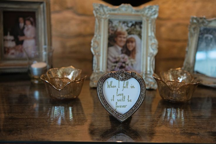 Rustic Chic Wedding; Wedding Photos of Parents & Grandparents; When I Fall In Love, It Will Be Forever; Ornate Gold Frames