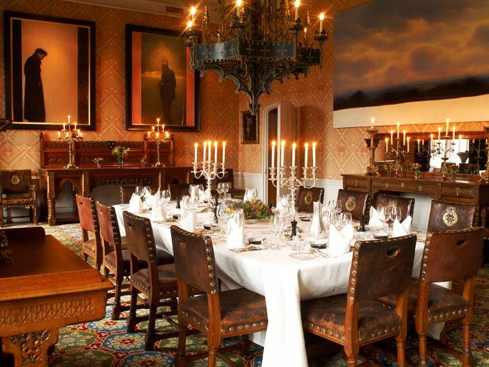 Dining Room Of Lismore Castle Waterford Hire Ireland