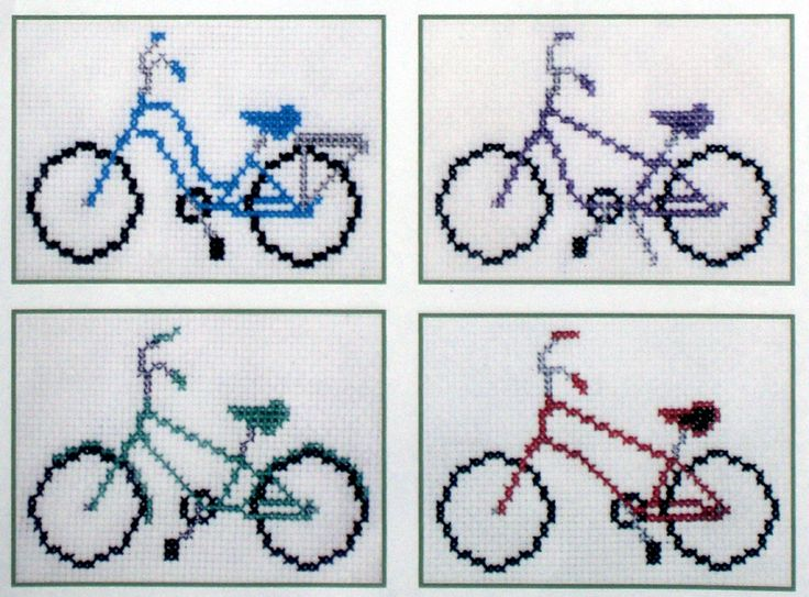 Eden Pease Easy Breezy Bicycles cross stitch pattern