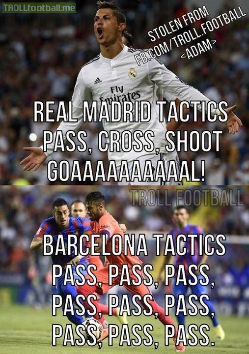 Real vs. Barca tactics