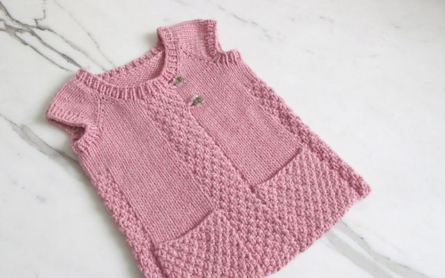 Free Knitting Pattern For A Gilet : Ravelry: yayayarns Spring Gilet - free knitting pattern Baby jersey ...