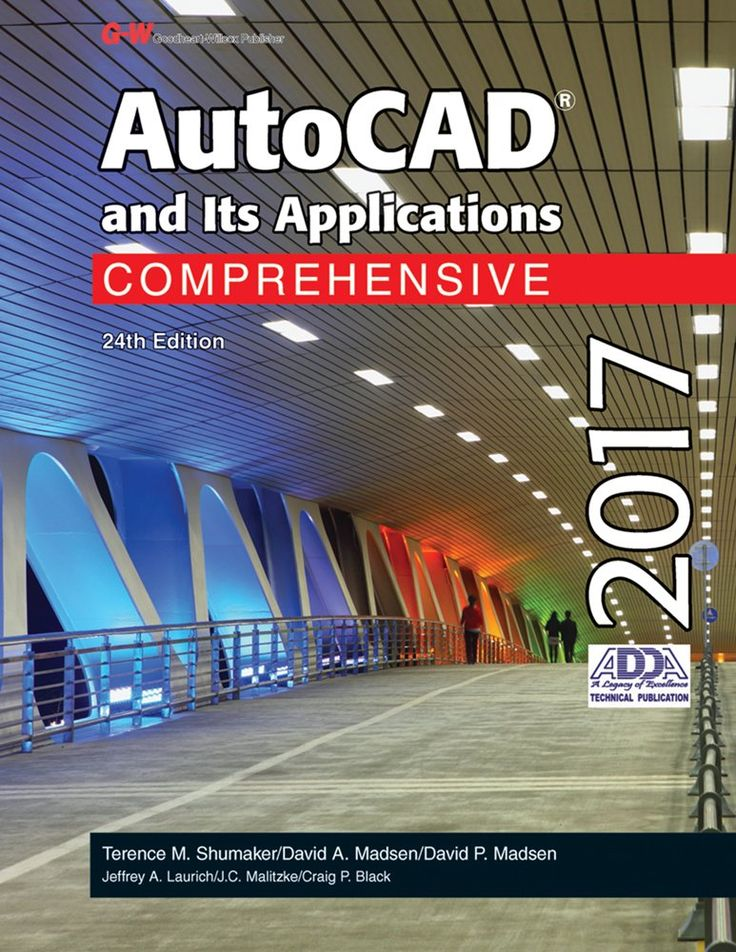 AutoCAD and Its Applications Comprehensive 2017 by Terence M. Shumaker, David A. Madsen, David P. Madsen, Jeffrey A. Laurich, J. C. Malitzke, Craig P. Black. AutoCAD and Its Applications–Comprehensive is a useful tool for both classroom instruction and independent study. The heavily illustrated text not only tells you how to use AutoCAD, it also shows you how to use AutoCAD. In addition to teaching AutoCAD, this text serves as a valuable resource once you begin a career in the drafting…