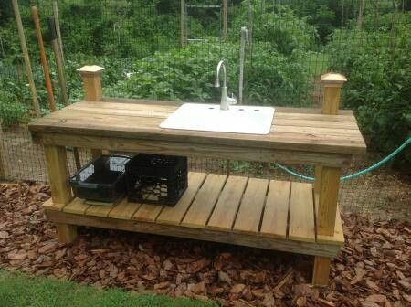 Plans For Potting Bench With Sink Woodworking Projects