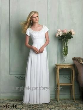 Spring 2014 Collection | #Modest #Allure bridal | Sheath gown | Chiffon | Simply Elegant | Fort Mill, SC