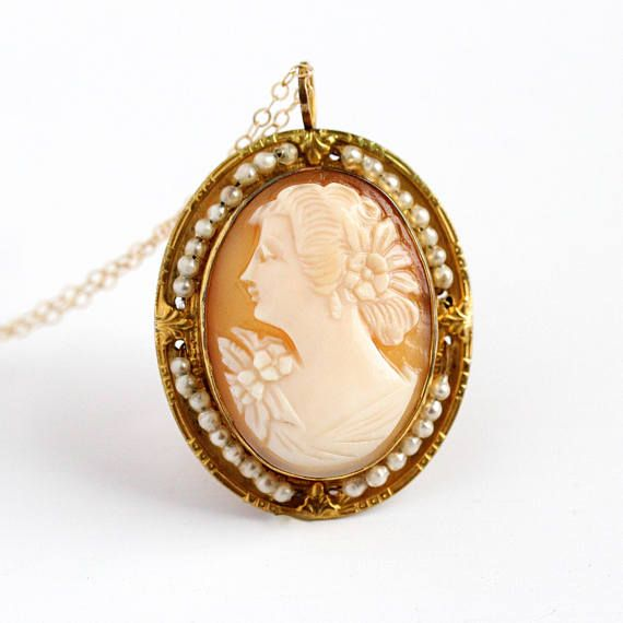 Angel Antique Cameo Gold Pink Woman Hair Clip