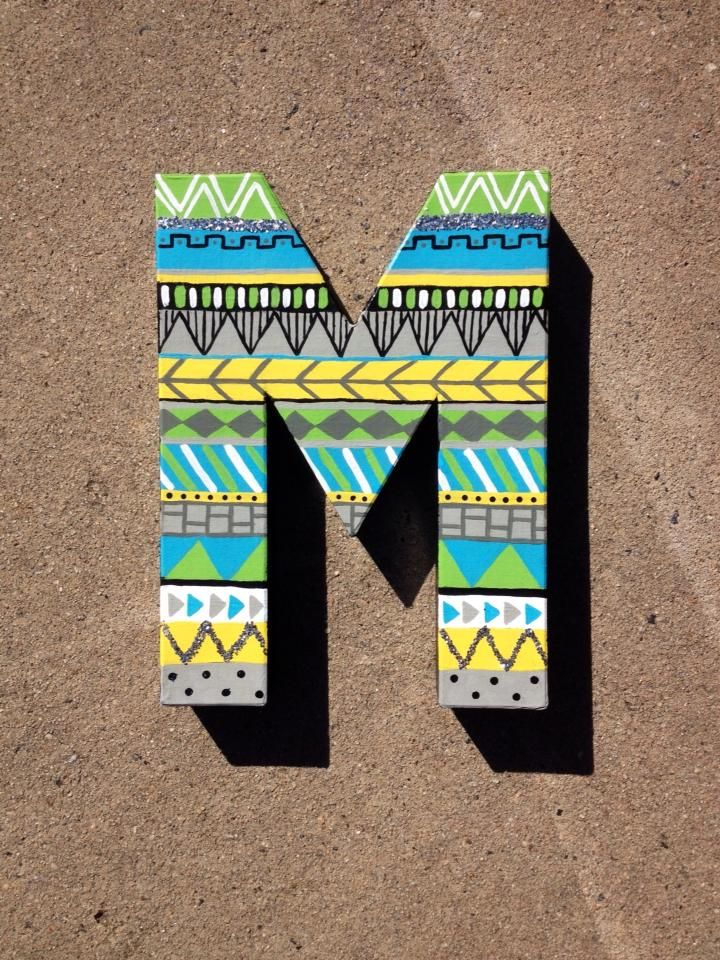 $20 #initials #letters #tribal #diy #crafts