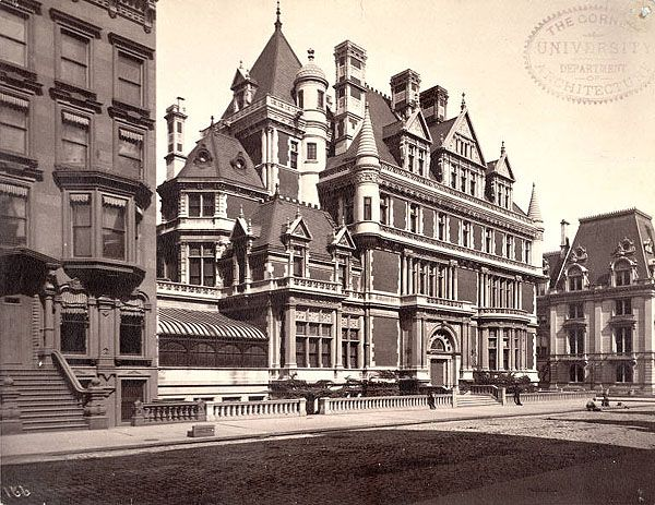 The Cornelius Vanderbilt Mansion at 1 W57th St. built 1882 and demolished in 1927. Now the site of Bergdorf Goodman.