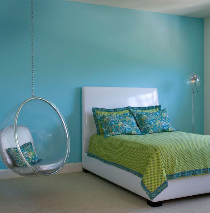 Blue Hanging Chairs For Bedrooms