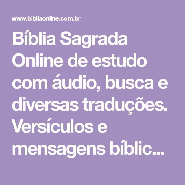 Biblia Sagrada Online De Estudo Com Audio Busca E Diversas T