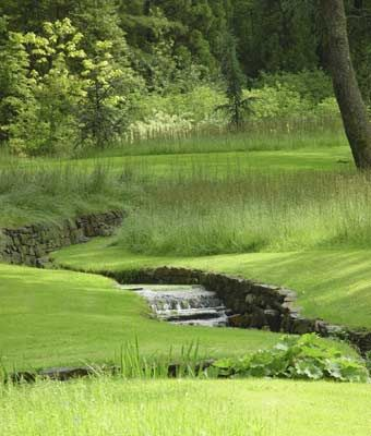 stream at Chanticleer Garden, in Wayne, Delaware County, Pennsylvania.