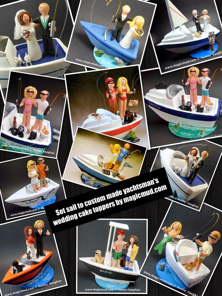 Boating and Yachting wedding cake toppers by www.magicmud.com 1 800 231 9814 magicmud@magicmud... blog.magicmud.com twitter.com/... $235 #wedding #cake #toppers #custom #personalized #Groom #bride #anniversary #birthday #weddingcaketoppers #cake-toppers #boat #boating #yacht #sailing #sailboat #power-boat #figurine #gift #wedding-cake-toppers http://custom-wedding-cake-toppers.tumblr.com/ http://instagram.com/weddingcaketoppers https://www.facebook.com/PersonalizedWeddingCakeToppers…
