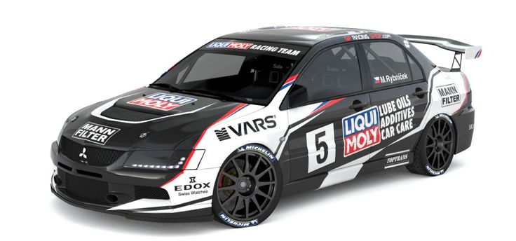 Liqui Moly Racing Team - Marek Rybníček (Mitsubishi Lancer Evo IX) - design and wrap for season 2014.