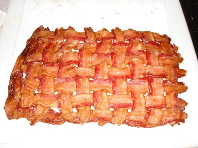 Bacon Weave MatYummy Bacon, Bacon Matte, Bacon Birthday, Shakes Bacon, Matte Bacon, Bacon Mats Or, Mats Or Bacon, Bacon Weaving