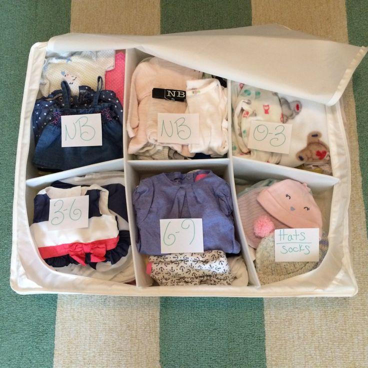 Kitchen Organization For Baby Stuff: Best 25+ Organize Baby Clothes Ideas On Pinterest