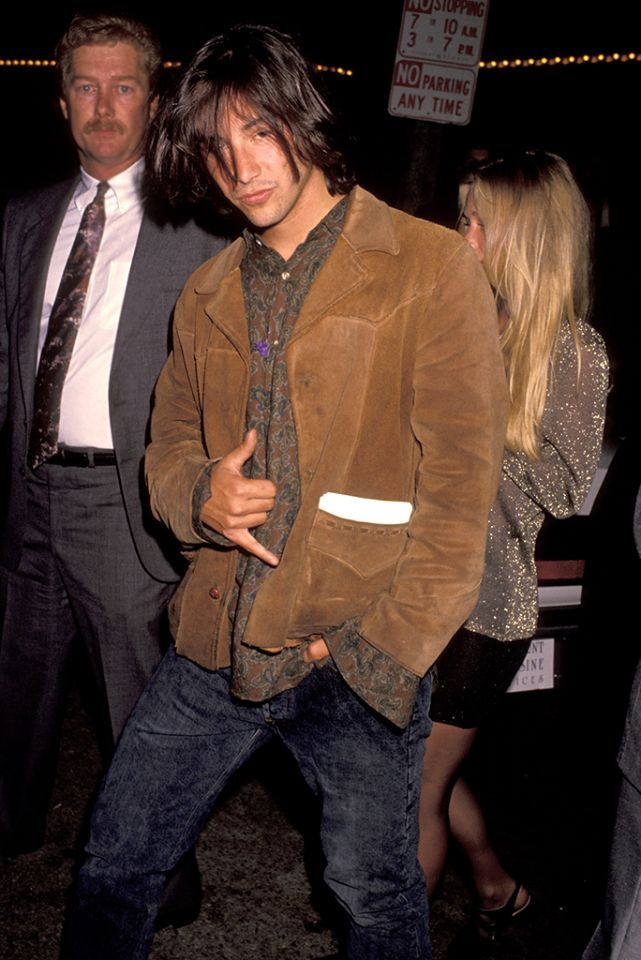 Red Carpet Flashback! 'Point Break' Stars Keanu Reeves and Patrick Swayze at the…