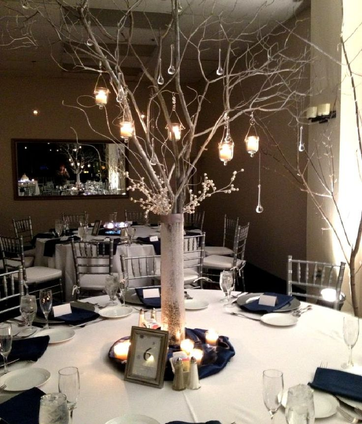 twig centerpieces for weddings | East Lansing Marriott at University Place | W.E.D  Could hang favours from the branches
