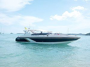 Matthew - 36ft speed boat built by SEAT. Thailand. Carries a max of 20 passengers and comfortable for 12 passengers. With a top speed of 35 knots and a cruise speed of 26 knots.