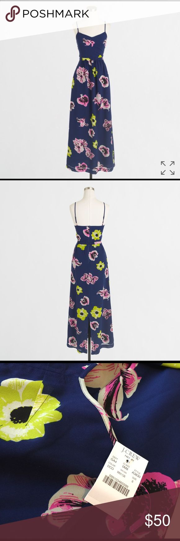 🎉NEW🎉J. Crew Factory Printed Maxi Dress This is a beautiful new J CREW Maxi dress. Last pic is the lining in the dress. Super soft. SOLD OUT! J. Crew Dresses Maxi
