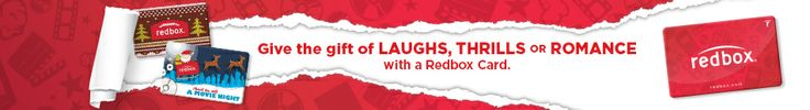 Give the gift of laughs, thrills or romance with a Redbox Card.