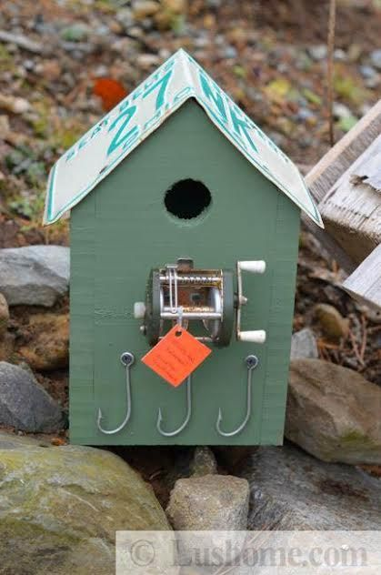 Recycling ideas for making rustic birdhouses from salvaged for Handmade craft ideas reuse household items