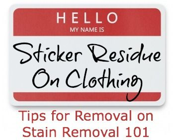 Julia posted this question about how to remove sticker residue from clothing on the site's Facebook page.Julia asks:Hi! Any tips on how to get sticky residue