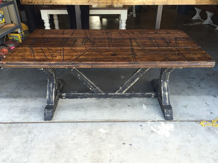 Captivating Reclaimed Railroad Car Wood Table Top With Distressed Base By Ross Rustic  Tables. Www.rosstables.com   Rustic Furniture   Pinterest   Wood Table  Tops, ...