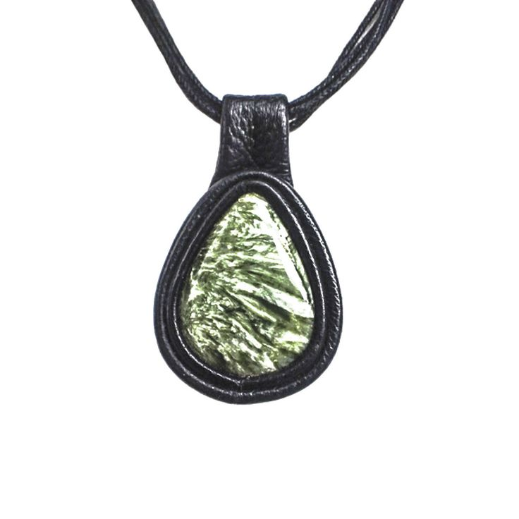 Excited to share the latest addition to my #etsy shop: Seraphinite black choker necklace bib framed with black genuine leather a wonderful gift for yourself or your loved ones. http://etsy.me/2iYcTyk #jewelry #necklace #black  #leather #green #teardrop