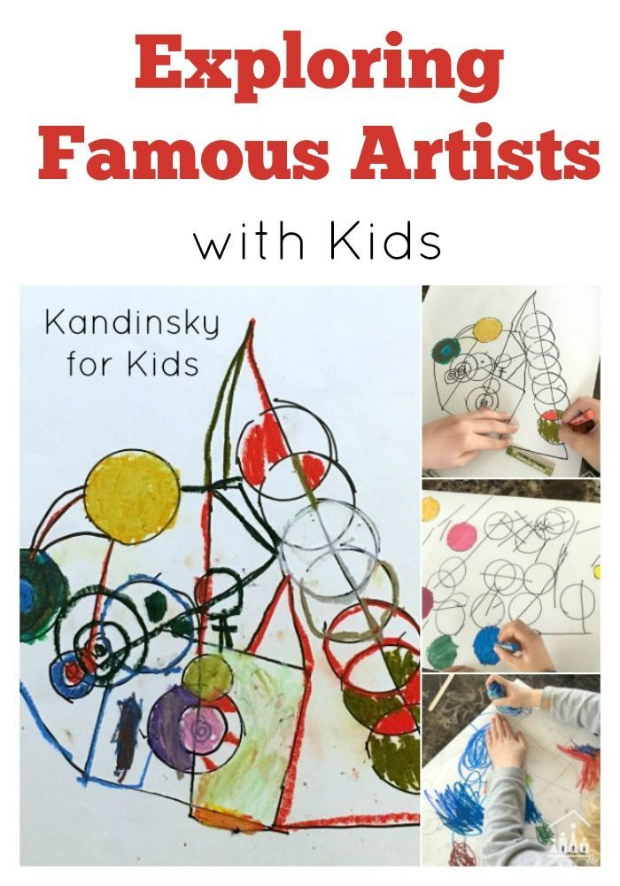 Invite your child to look at a famous work of art and then set them the challenge of creating their own mini master piece. Make a start with our creative Kandinsky for Kids Lines and Circles Art Activity. Part of our Exploring Famous Artists series.