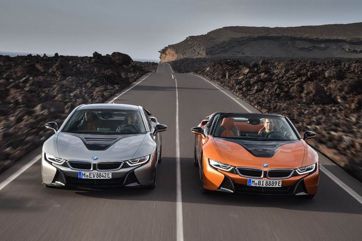 The new 2018 BMW i8 Roadster and Coupe look stunning, are limited to 155mph and do 30+ miles on pure electric. So fast, environmentally-friendly and gorgeous...