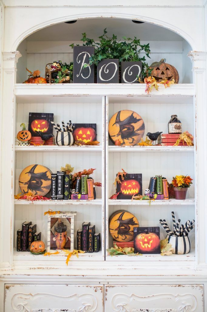 cute halloween decorations with the glowing photos