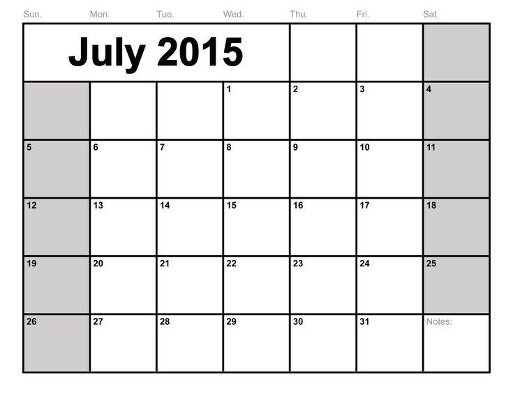 The 25+ best Blank july 2016 calendar ideas on Pinterest Blank - blank monthly calendar template word