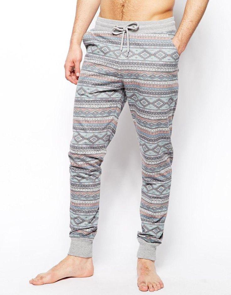 ASOS | ASOS Slim Fit Lounge Sweatpants With Aztec Print at ASOS