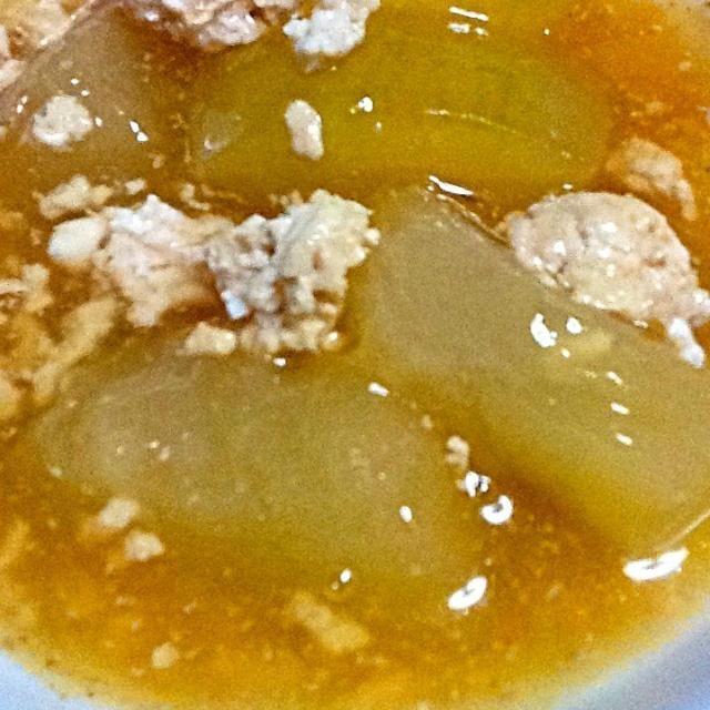 今度、作ってみてくださいね‼ - 2件のもぐもぐ - 冬瓜と鶏ひき肉の煮物 by supatetsu