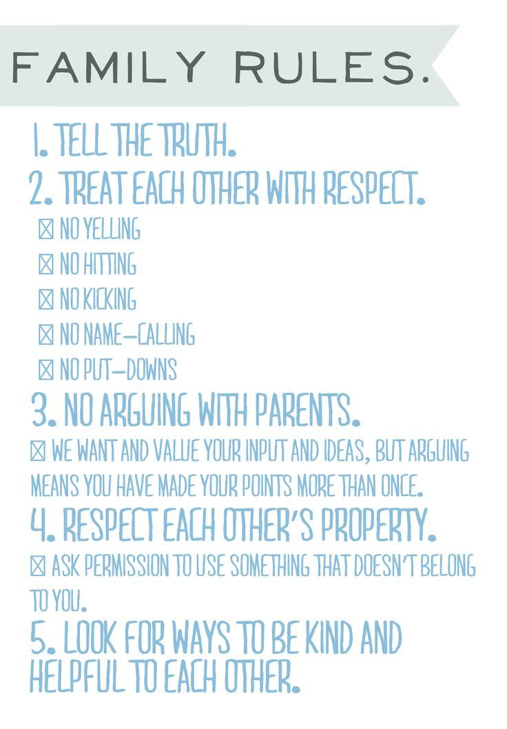 House Rules, Free printable. Hanging the family rules in your house is a great w…