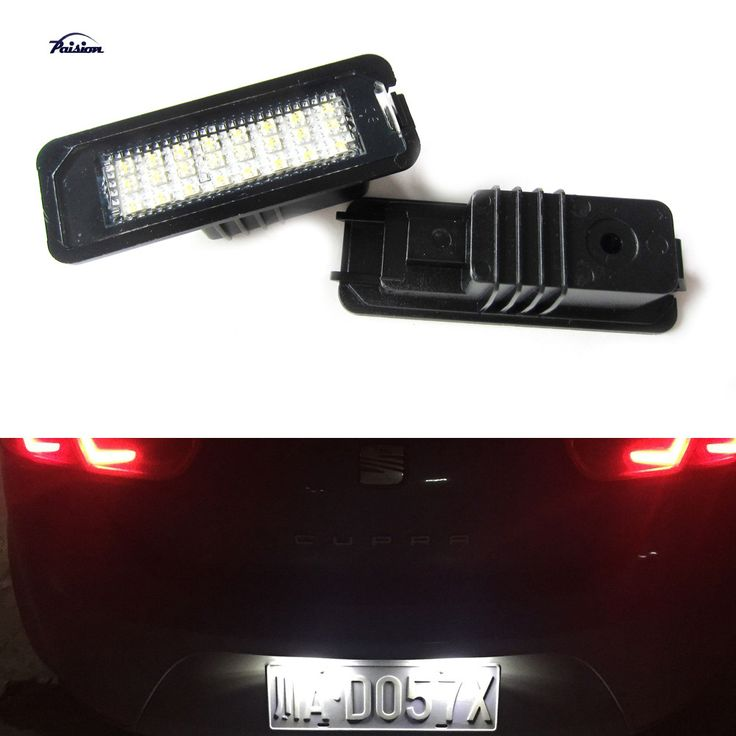 2X24SMD Error free LED Kit for Volkswagen VW GOLF MK4 MK5 SCIROCCO POLO PASSAT BEETLE LED License Number Plate light lamps
