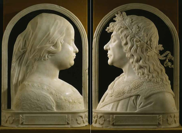 Giovanni Dalmata: Beatrice of Aragon and King Matthias Corvinus. Museum of Fine…
