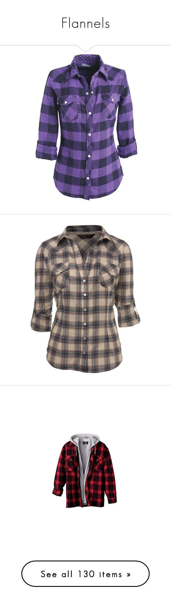 """""""Flannels"""" by vivianr5 ❤ liked on Polyvore featuring tops, shirts, blusas, plaid, shirts & blouses, tartan flannel shirt, plaid shirts, plaid flannel shirt, flannel shirts and purple plaid shirt"""