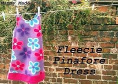 Fleece pinafore dress tut. I just made a red one for Lexi's Christmas dress
