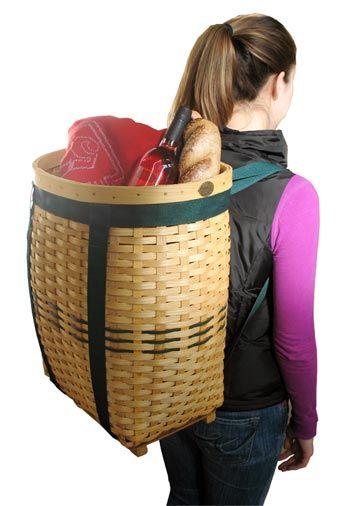 Oversized Peterboro Basket Backpack
