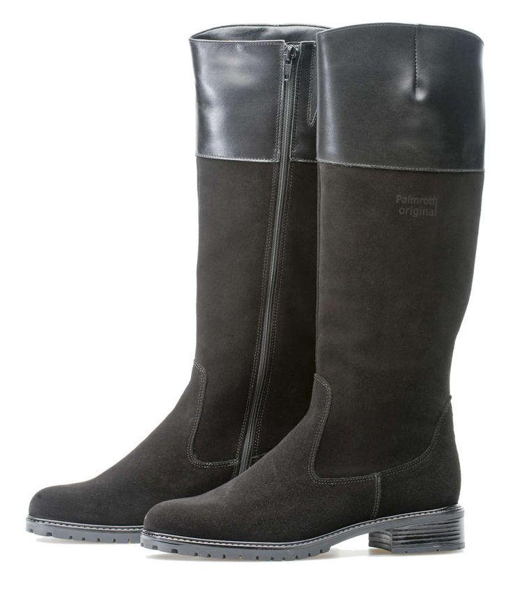 Palmroth boot black suede/nappa