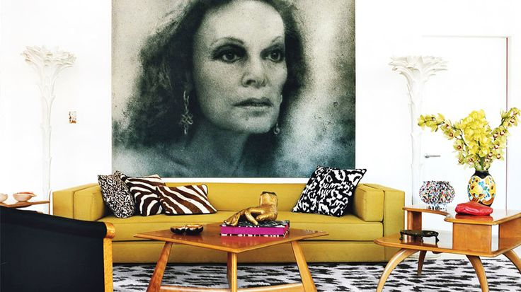 Diane Von Furstenberg's home in NYC's Meatpacking District // #livinginstyle: Fashion Designer, Interior Design, Manhattan Penthouse, Decor, Living Rooms, Livingrooms, Interiors, Diane Von Furstenberg