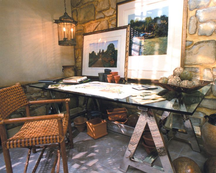 Awesome Rustic Home Office Design