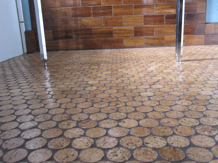 Love This Cork Floor Sort Of Industrial End Grain Wood