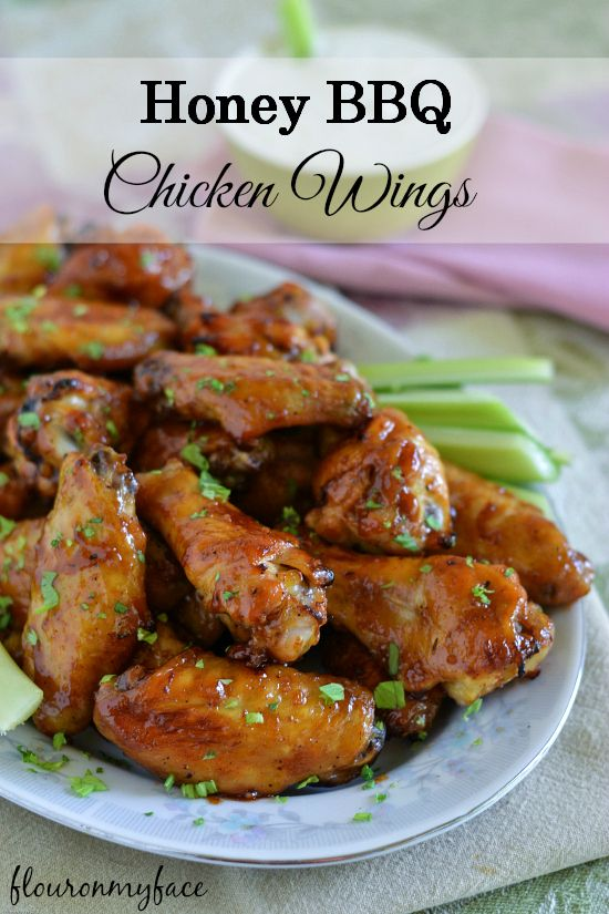 If you are looking for tailgating recipes this Honey BBQ Chicken Wings recipe is perfect for your game day food table. You may need to double the recipe!